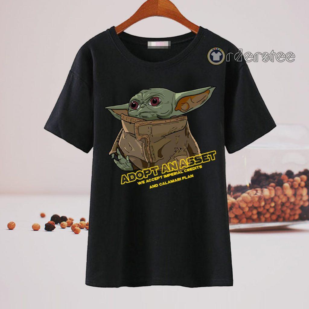 Baby Yoda Adopt An Asset T-Shirt