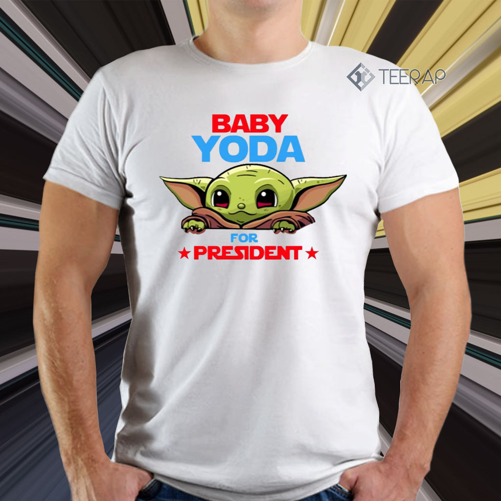 Baby Yoda for president t shirts