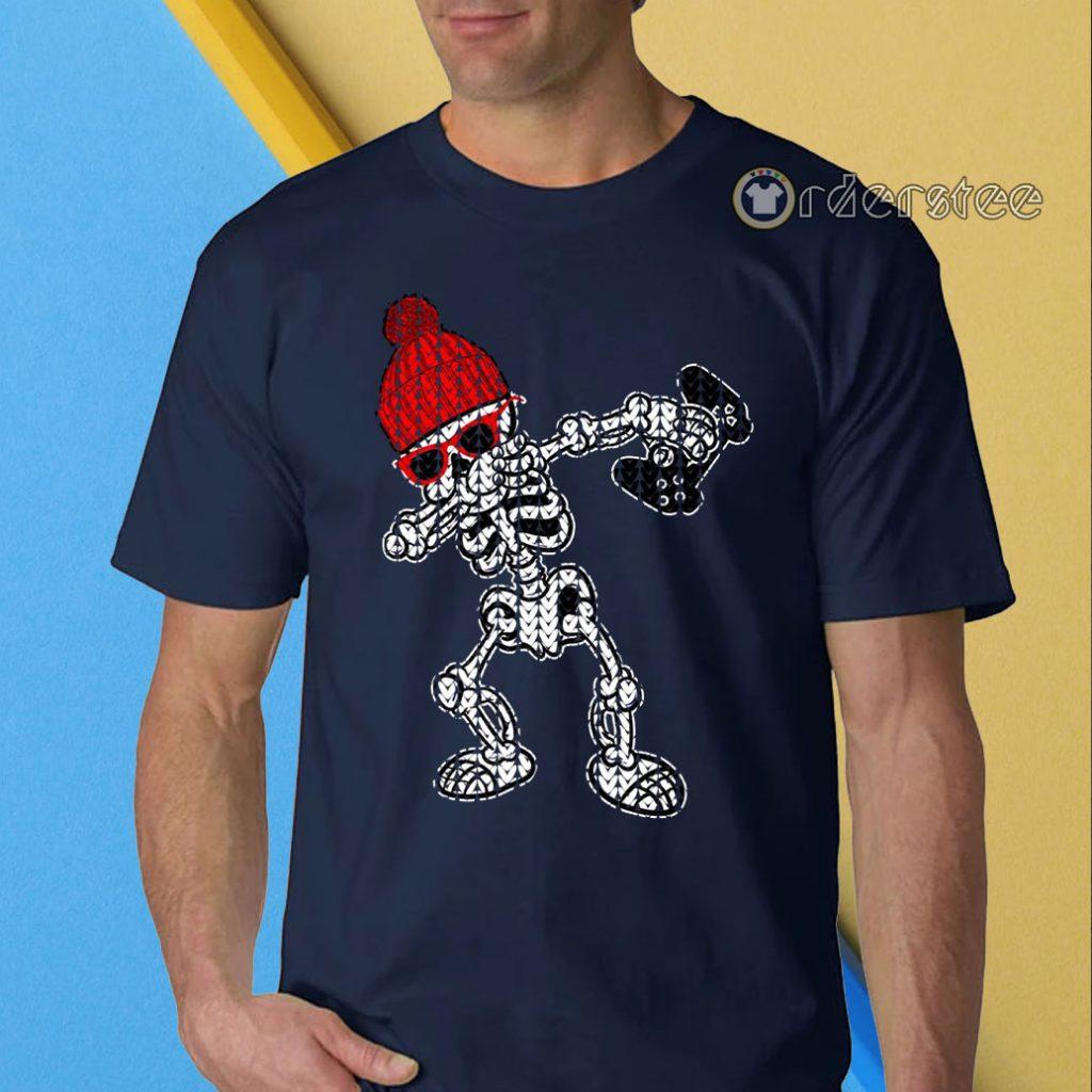 Dab Skeleton Ugly Christmas Shirt