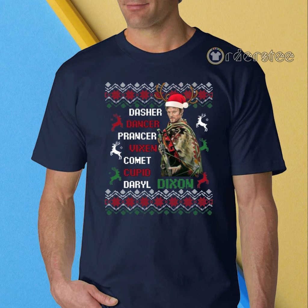 Darryl Dixon Walking Dead Christmas T-Shirt