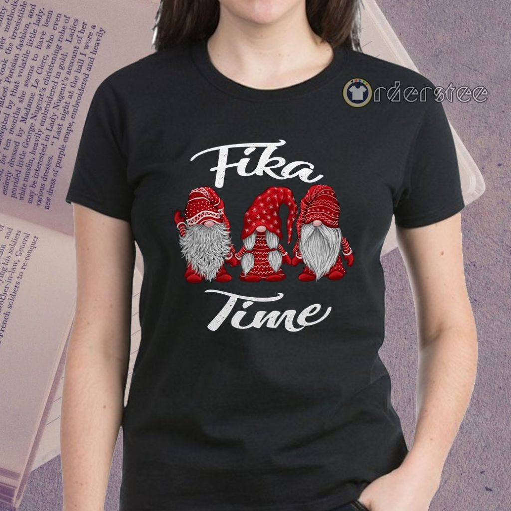 Gnomies Santa fika time Christmas shirts