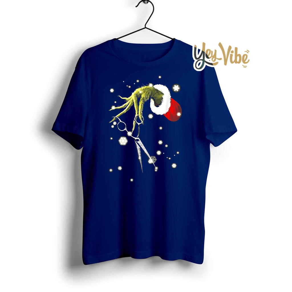 Grinch Hand Hairdresser Christmas T Shirts