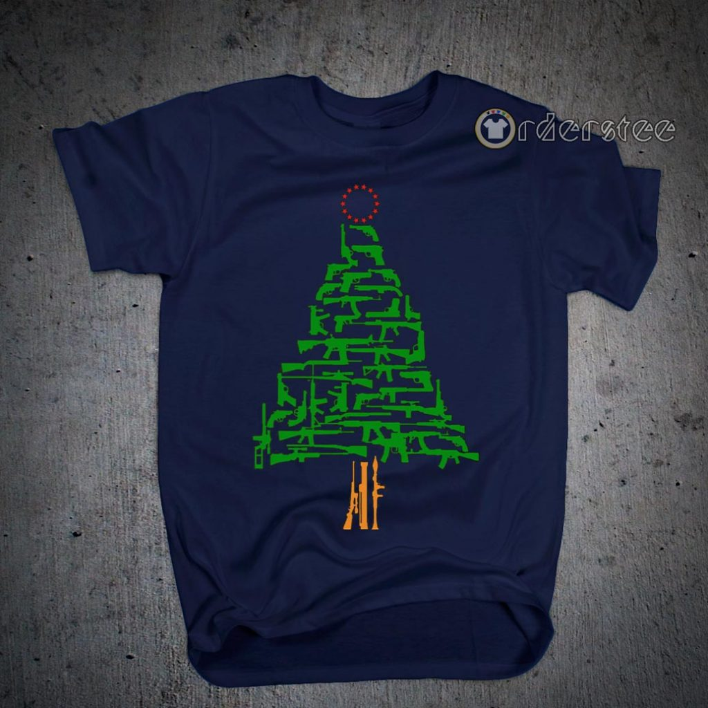 Guns Christmas Tree shirts