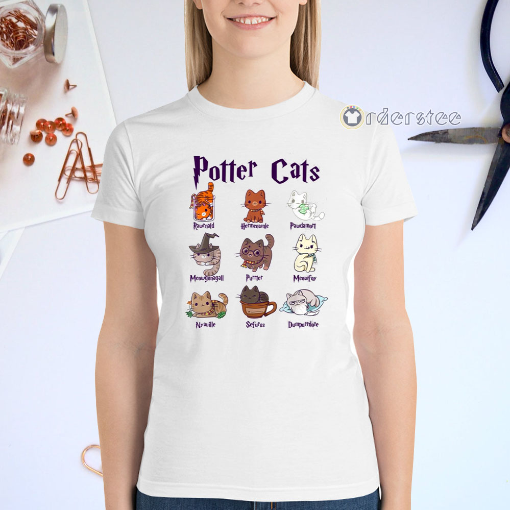 Potter Cats Gift For Cat Lovers t-shirts