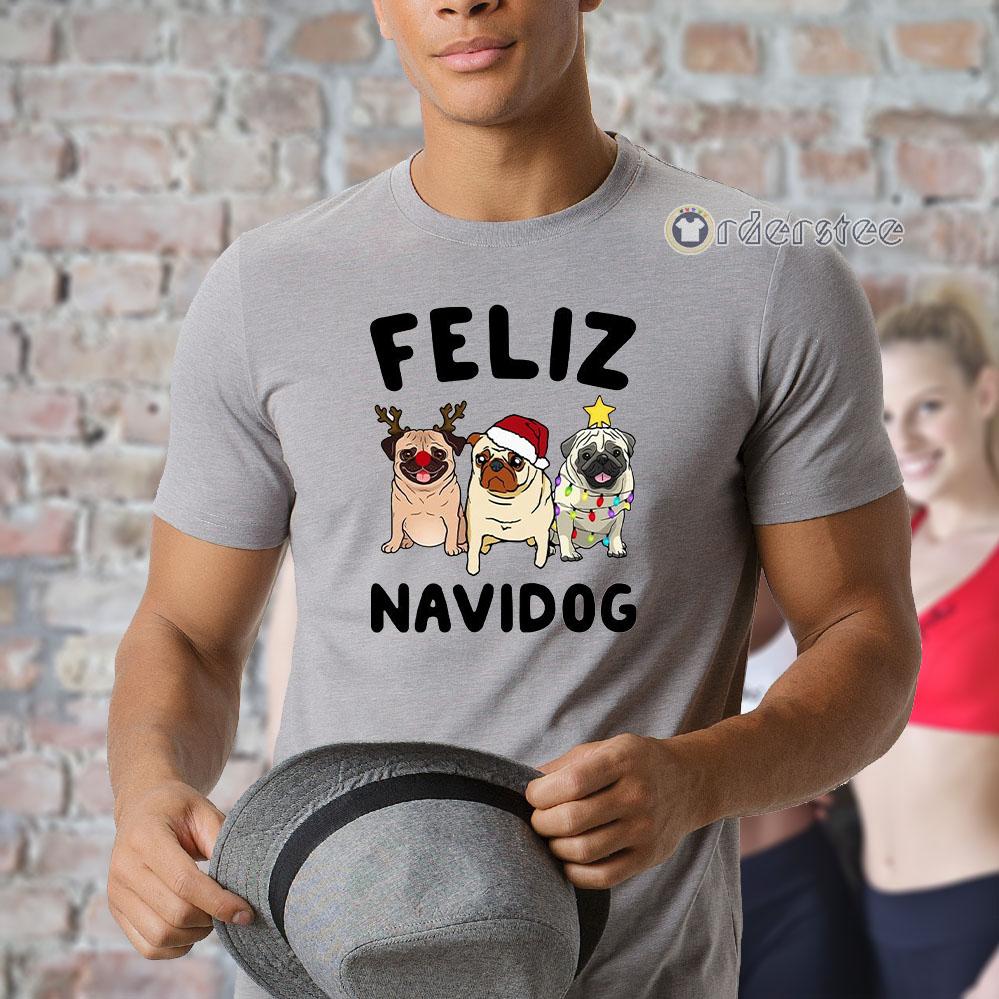 Pugs feliz navidog Christmas t-shirt