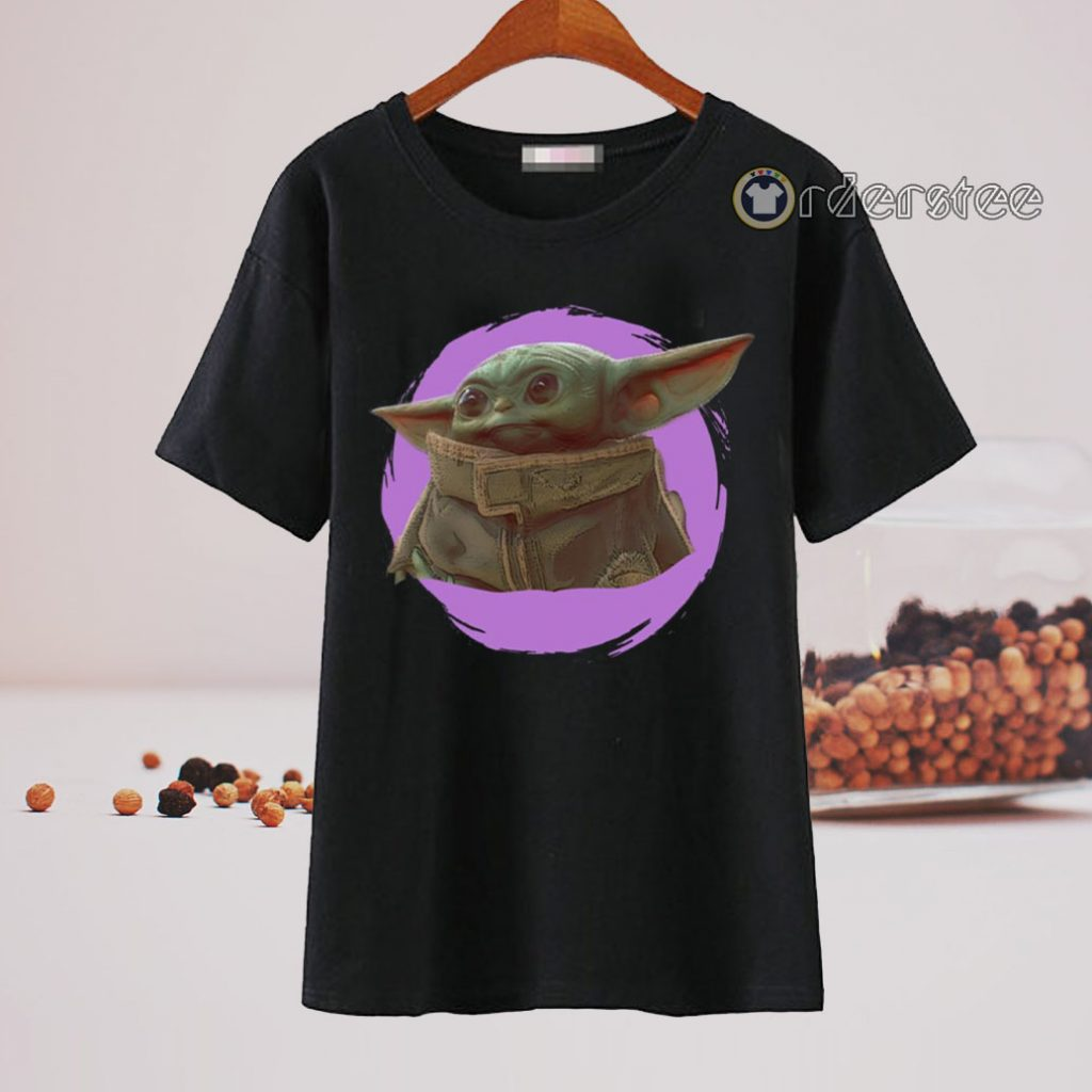 Star Wars Mandalorian Baby Yoda The Child Purple Ball Shirt