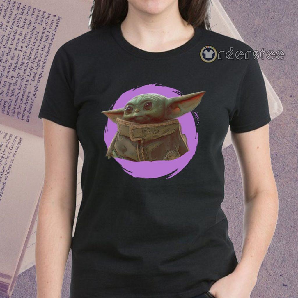 Star Wars Mandalorian Baby Yoda The Child Purple Ball Shirts