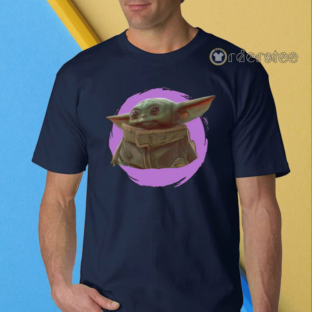 Star Wars Mandalorian Baby Yoda The Child Purple Ball T-Shirt