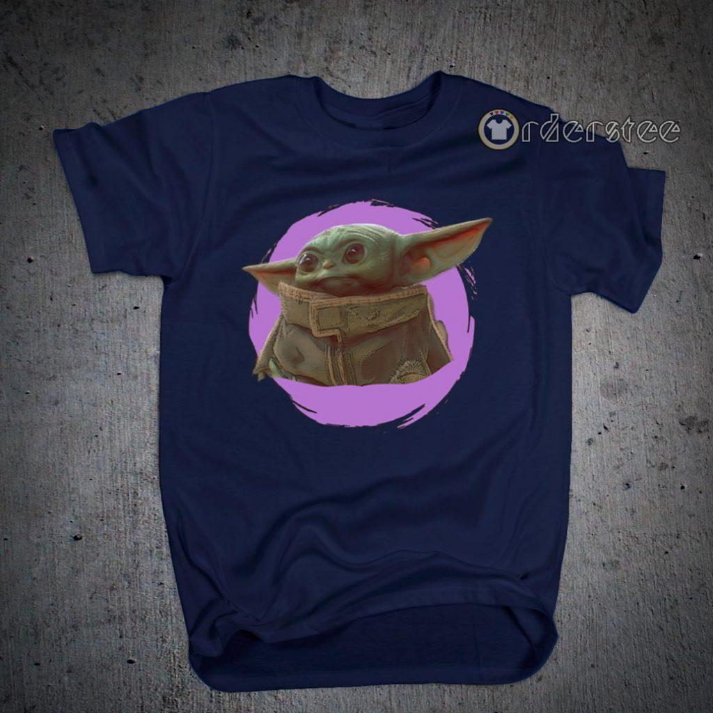 Star Wars Mandalorian Baby Yoda The Child Purple Ball T-Shirts
