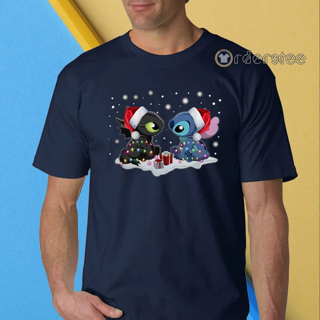 Stitch and Toothless Christmas t-shirt