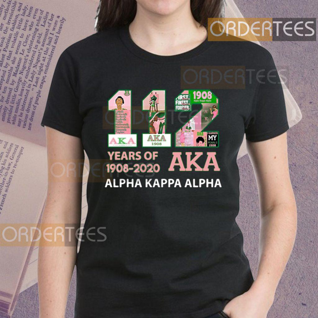 112 Years of 1908-2020 AKA Alpha Kappa Alpha Shirts