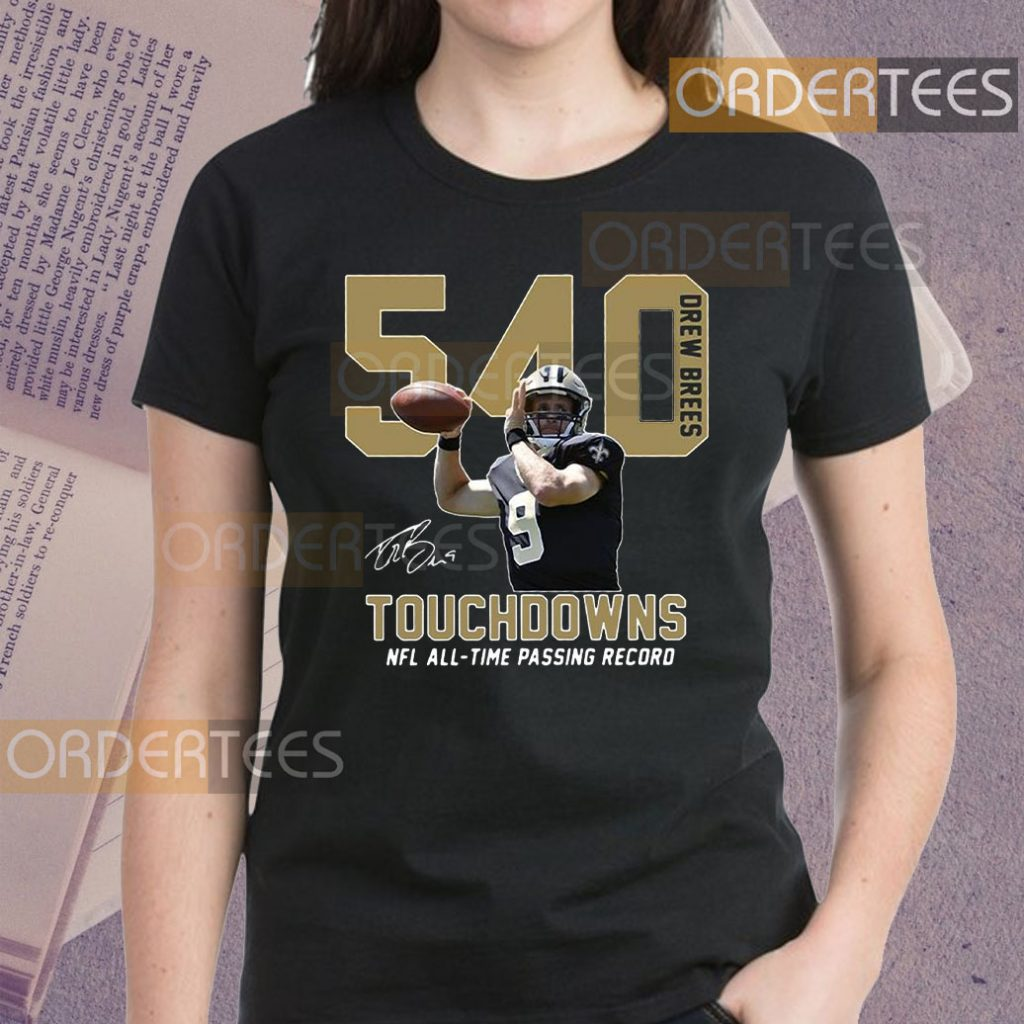 540 Drew Brees Touchdowns Nfl All-Time Passing Record Signature Shirts