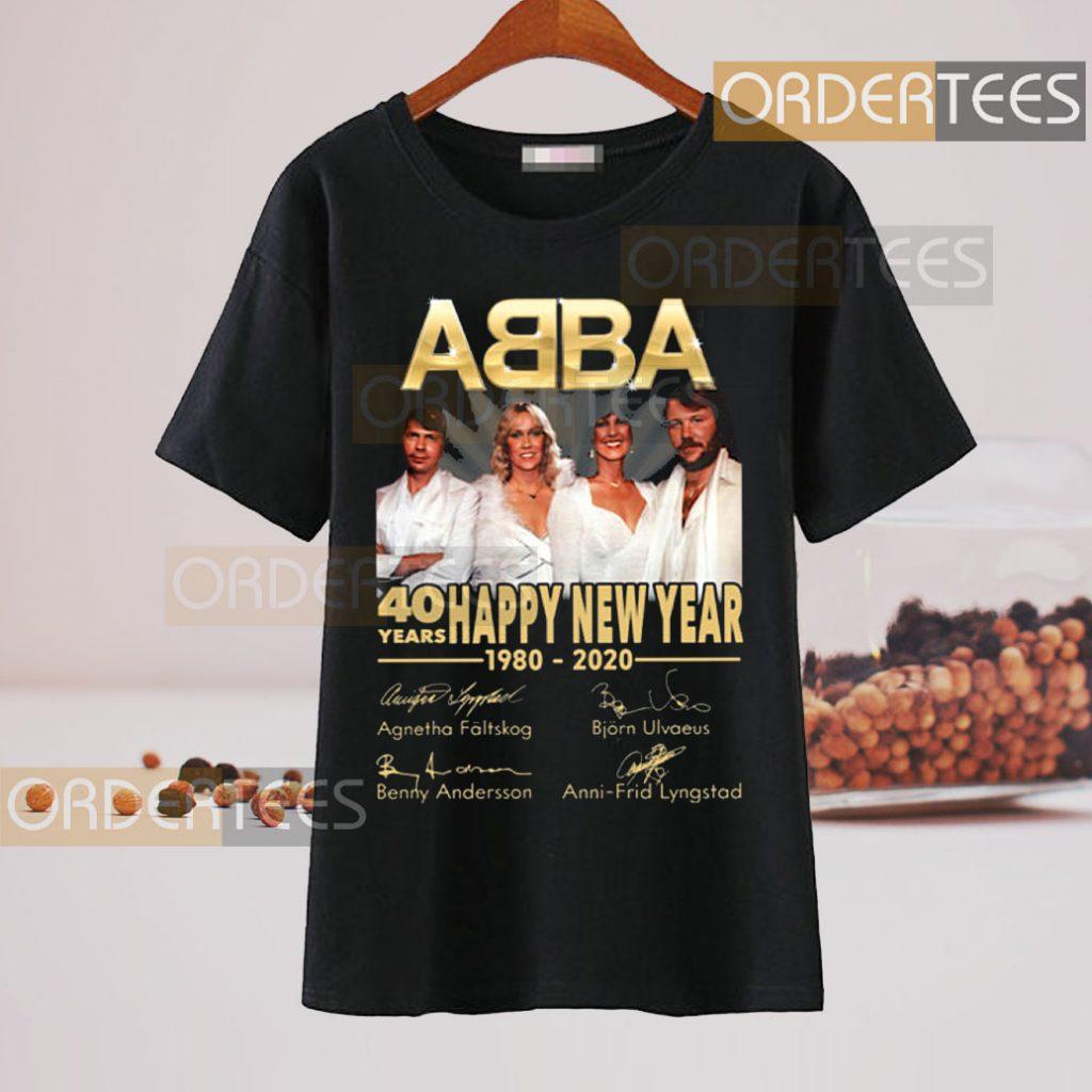 ABBA 40 Years Happy New Year 1980-2020 Signature Shirt