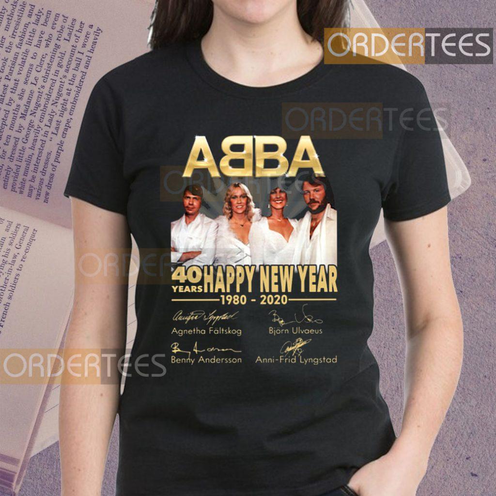 ABBA 40 Years Happy New Year 1980-2020 Signature Shirts