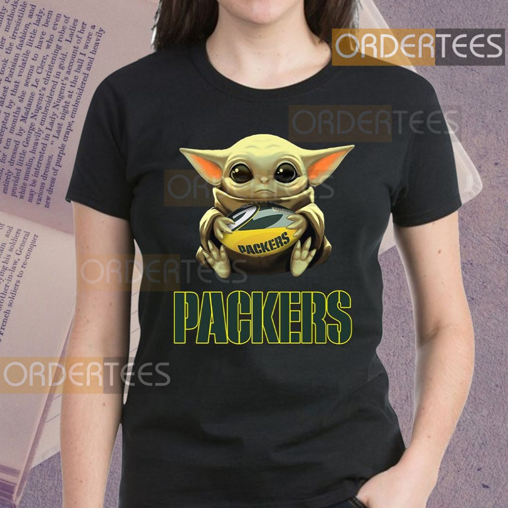 Baby Yoda Hug Green Bay Packers Shirt Hoodie Sweatshirt And Long Sleeve