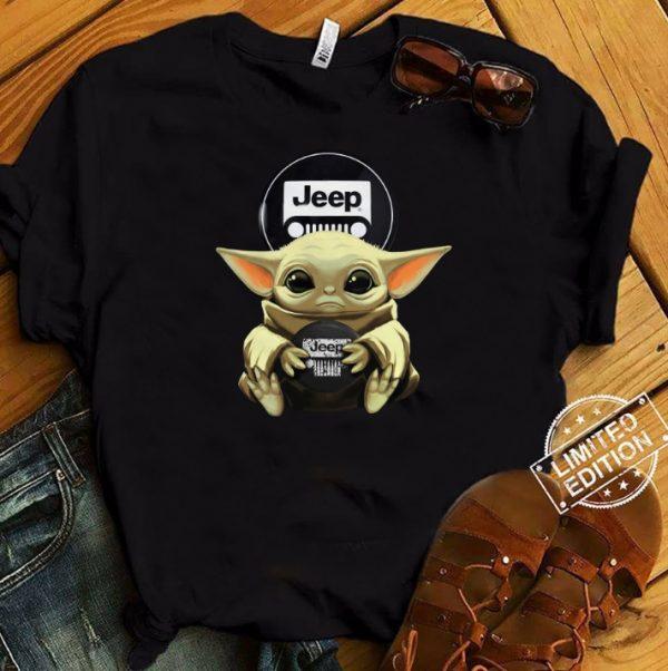 Baby Yoda Hug Jeep Shirt