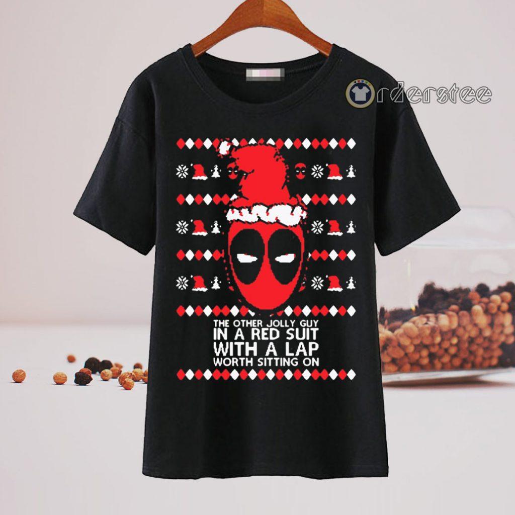 Deadpool Lap Worth Sitting On Ugly Christmas t-shirt