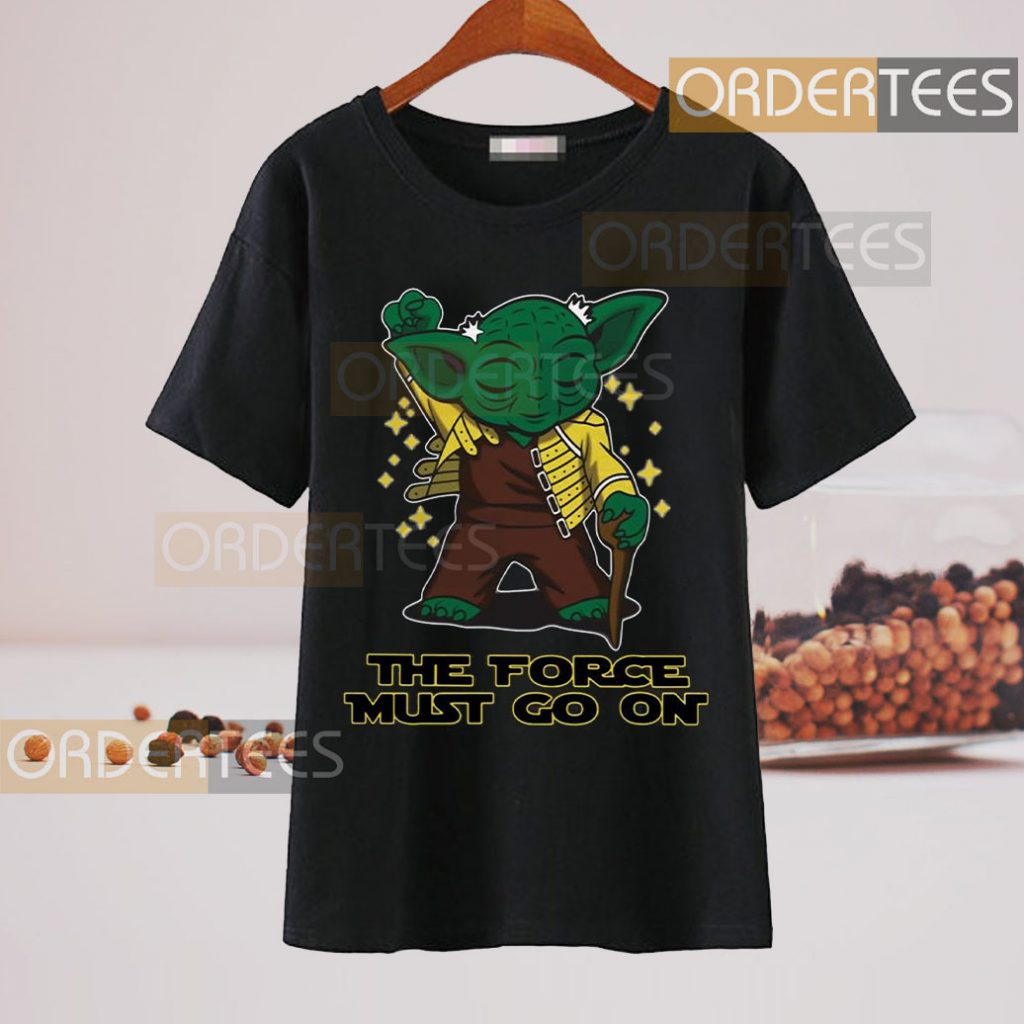 Freddie Mercury Baby Yoda the force must go on t-shirt