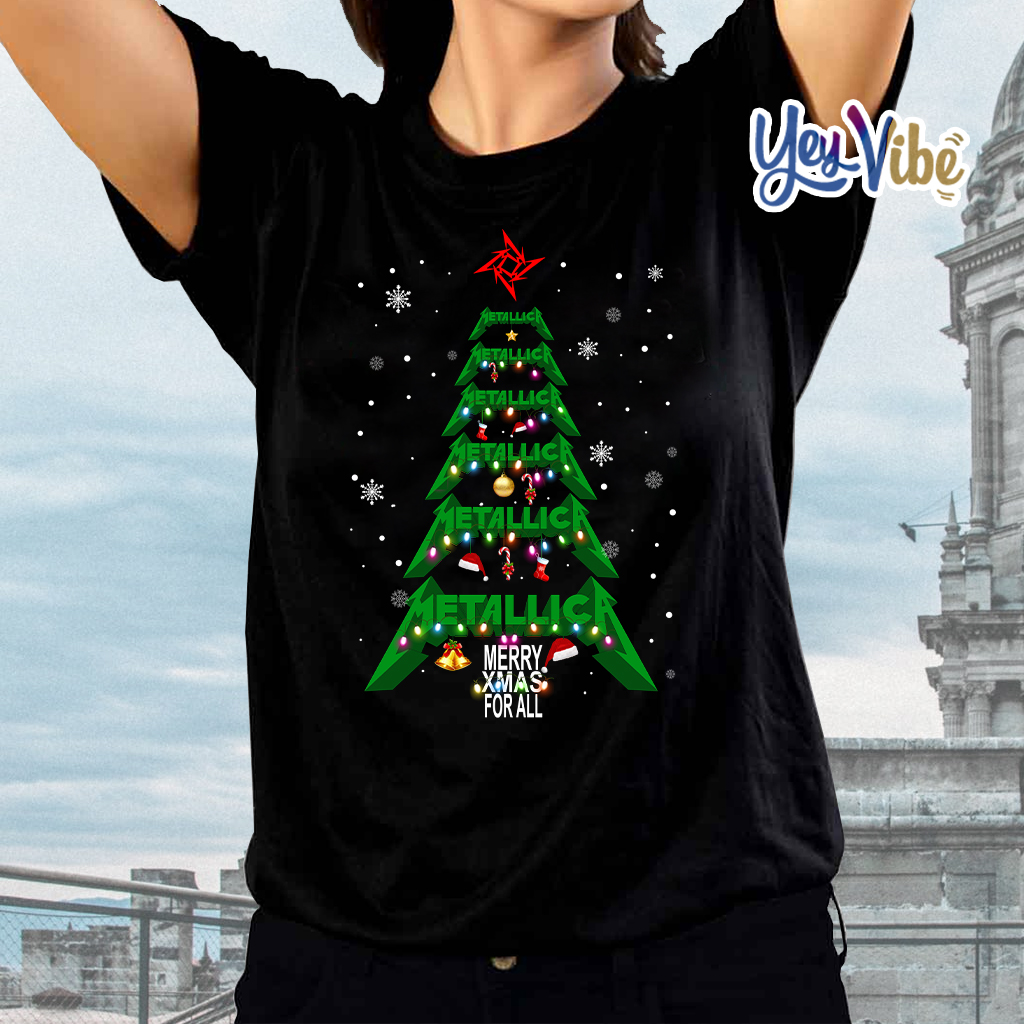 Metallica merry Xmas For All Christmas Tree Shirts