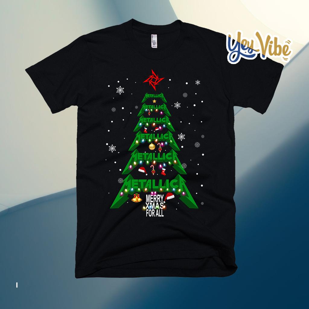 Metallica merry Xmas For All Christmas Tree T Shirt