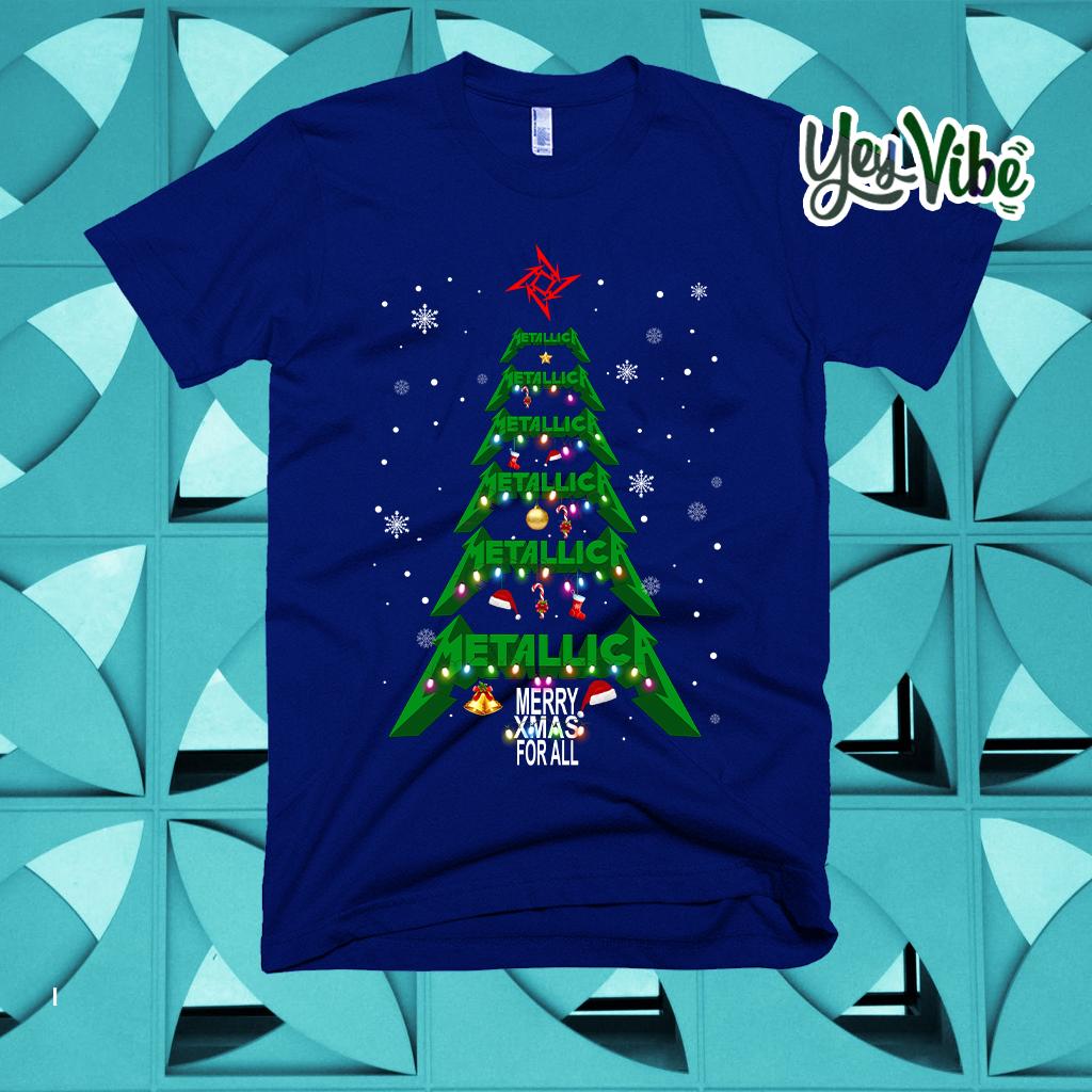 Metallica merry Xmas For All Christmas Tree T Shirts