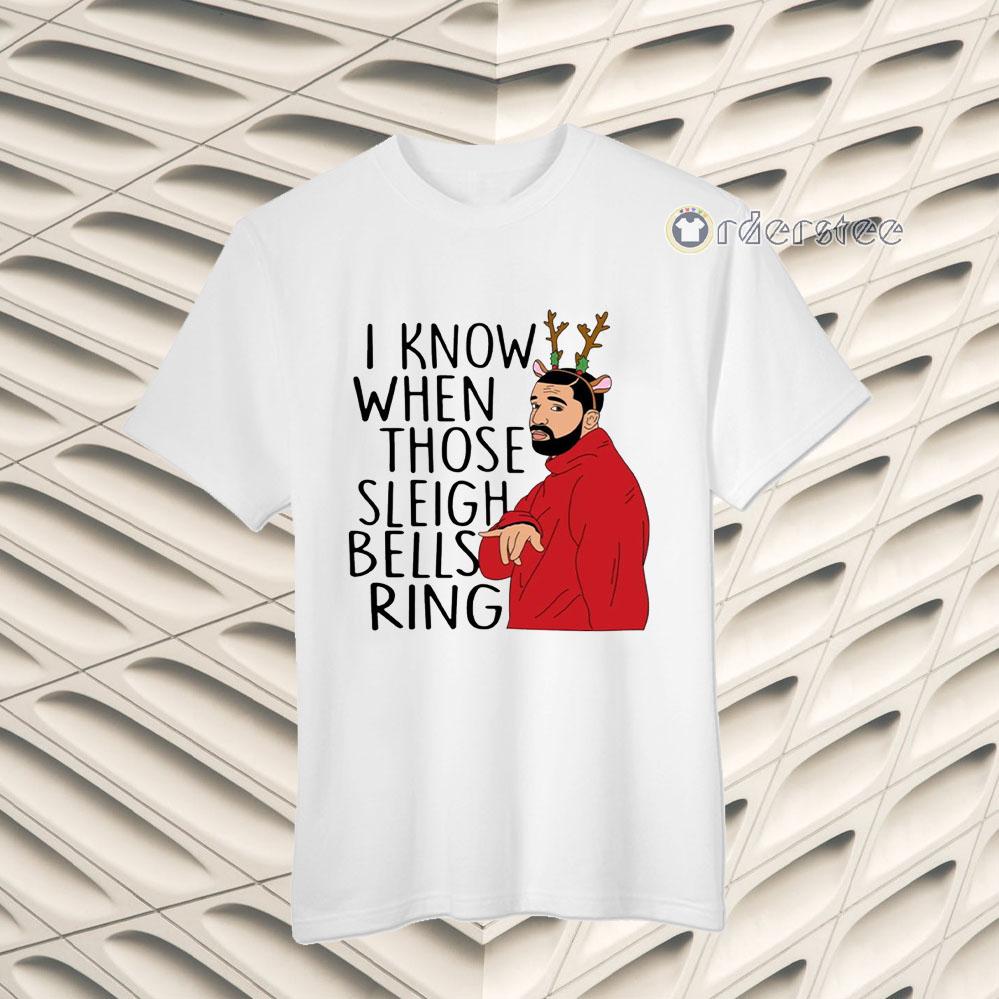 Santa Fake I Know When Those Sleigh Bells Rings Christmas t-shirts