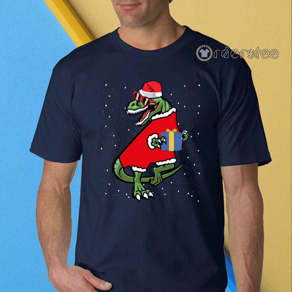 T-rex christmas funny t-shirt