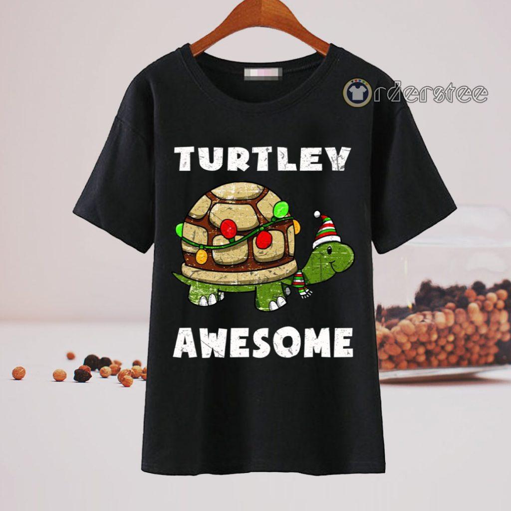 Turtley awesome christmas shirt
