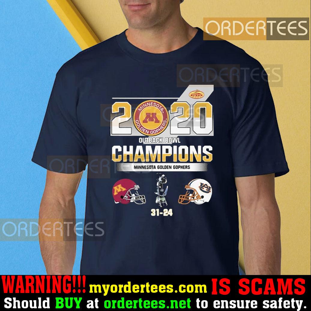 2020 outback bowl champions minnesota golden gophers 31-24 t-shirt