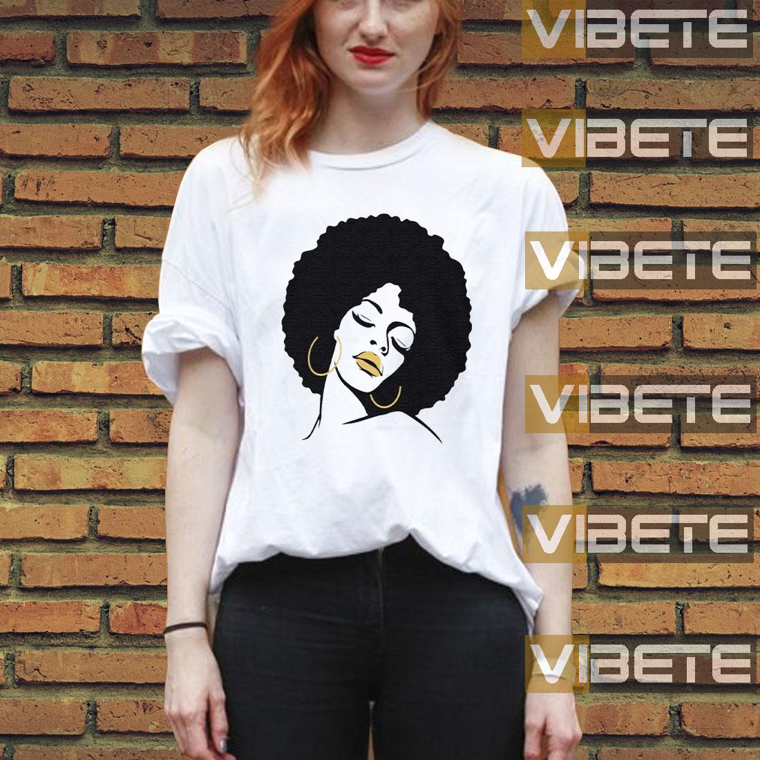 Afro Diva Black Girl Magic Lips Natural Melanin T-Shirt