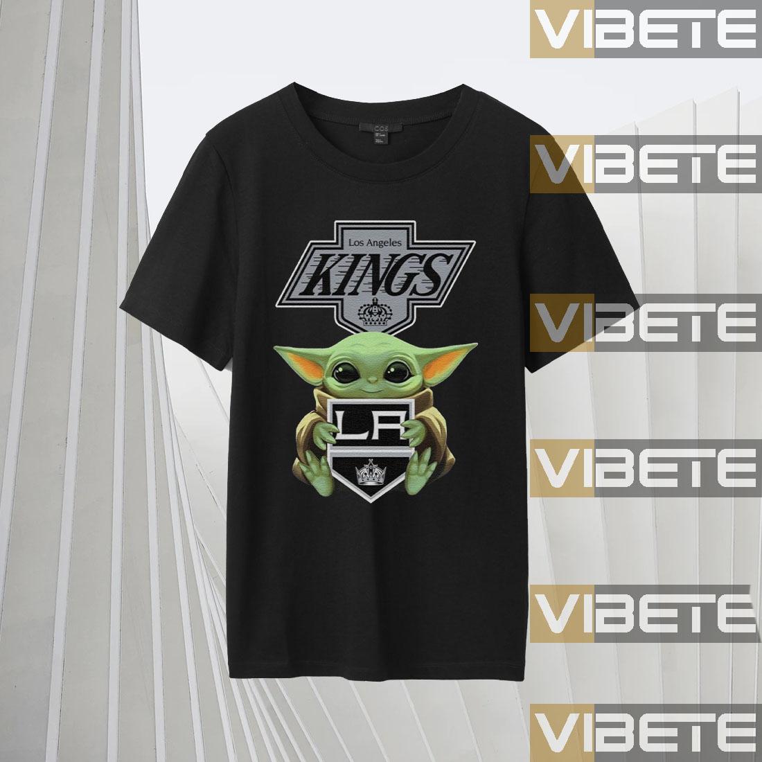 Baby Yoda Hug Los Angeles Kings Shirts