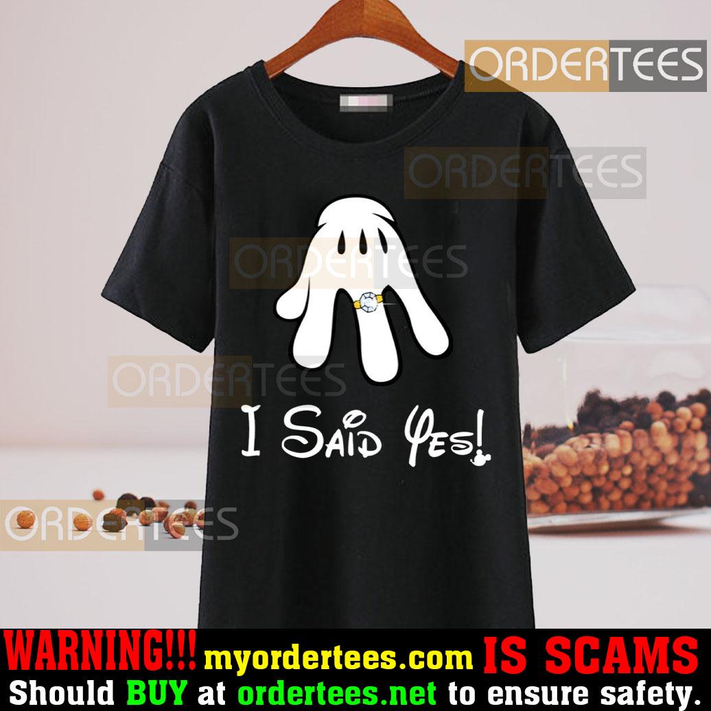 I Asked Shirt I Asked I Said Yes Mickey And Minnie shirt