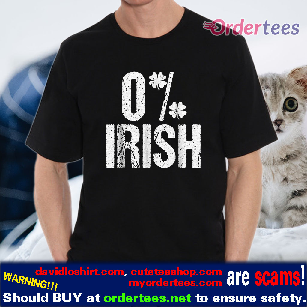 0% Irish Four Leaf Clover shirt