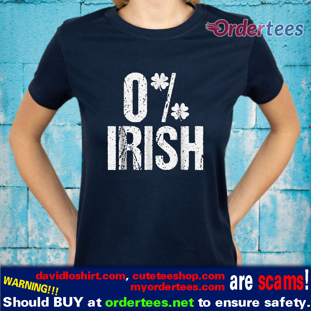 0% Irish Four Leaf Clover shirts