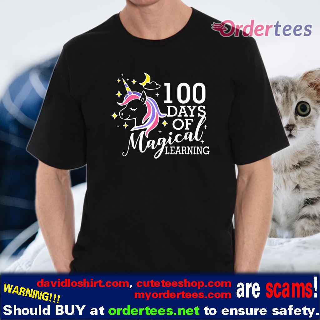 100 Days Of Magical Learning Elementary Teacher shirt