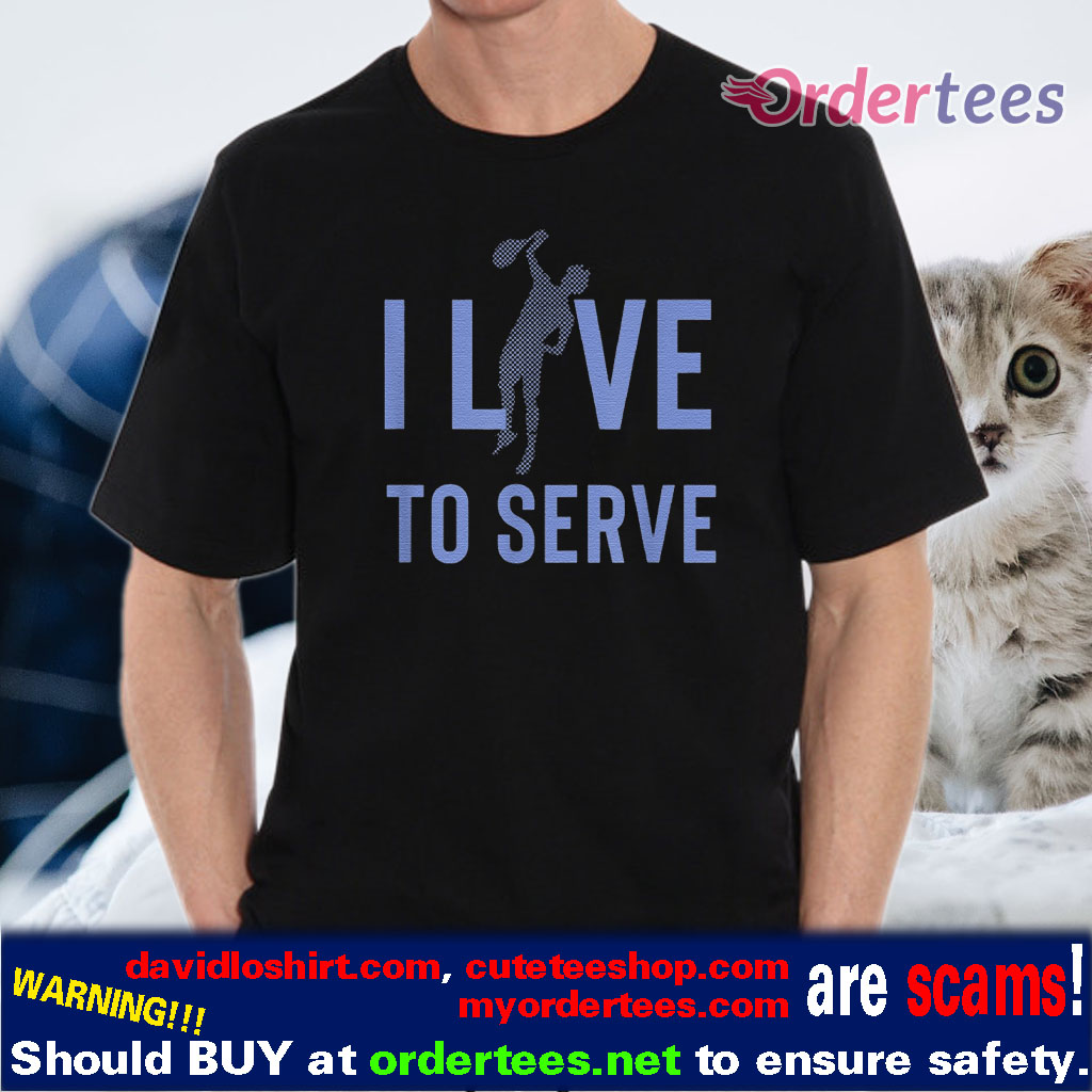 I Love To Serve Tennis Player Silhouette t-shirts