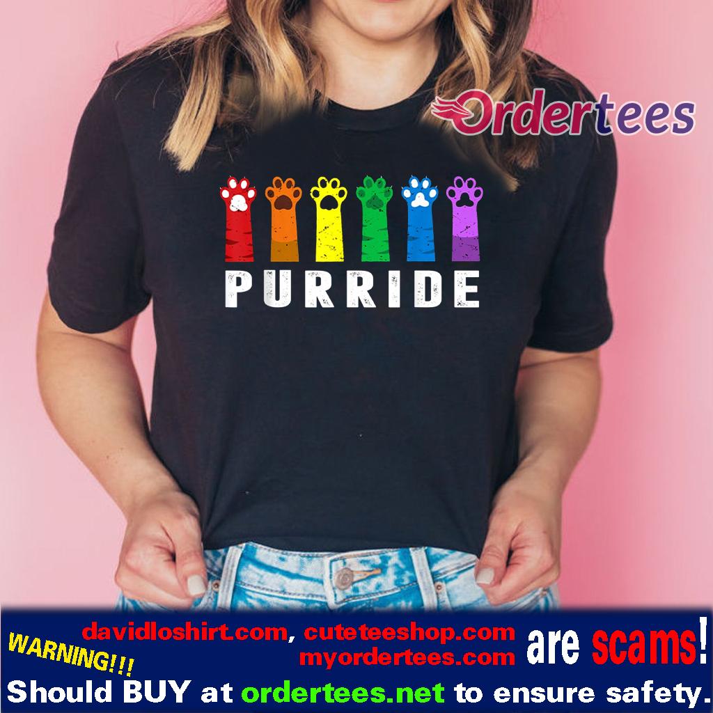 LGBT Cat Paws Purride t-shirt