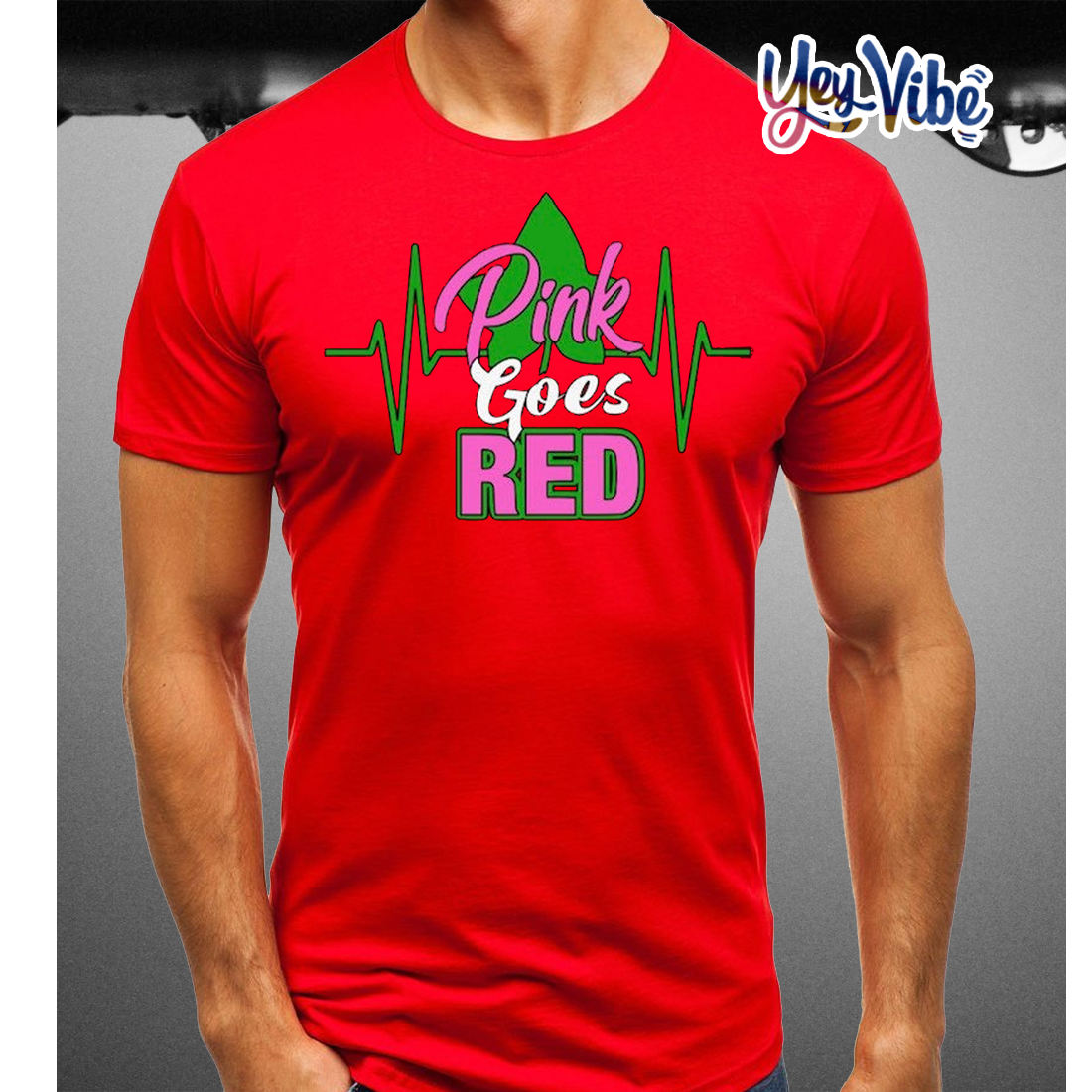 Pink Goes Red T Shirts Alpha Kappa Alpha
