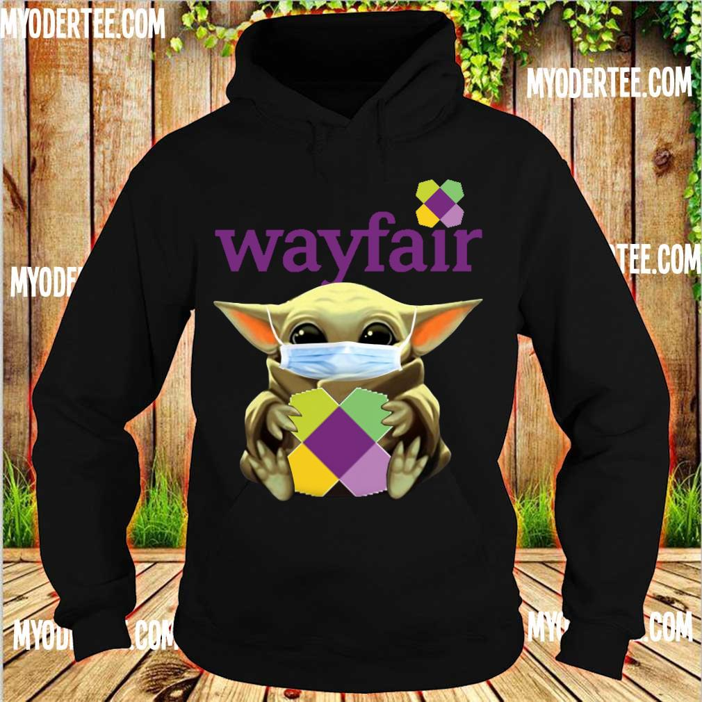 Baby Yoda Face mask hug Wayfair s hoodie
