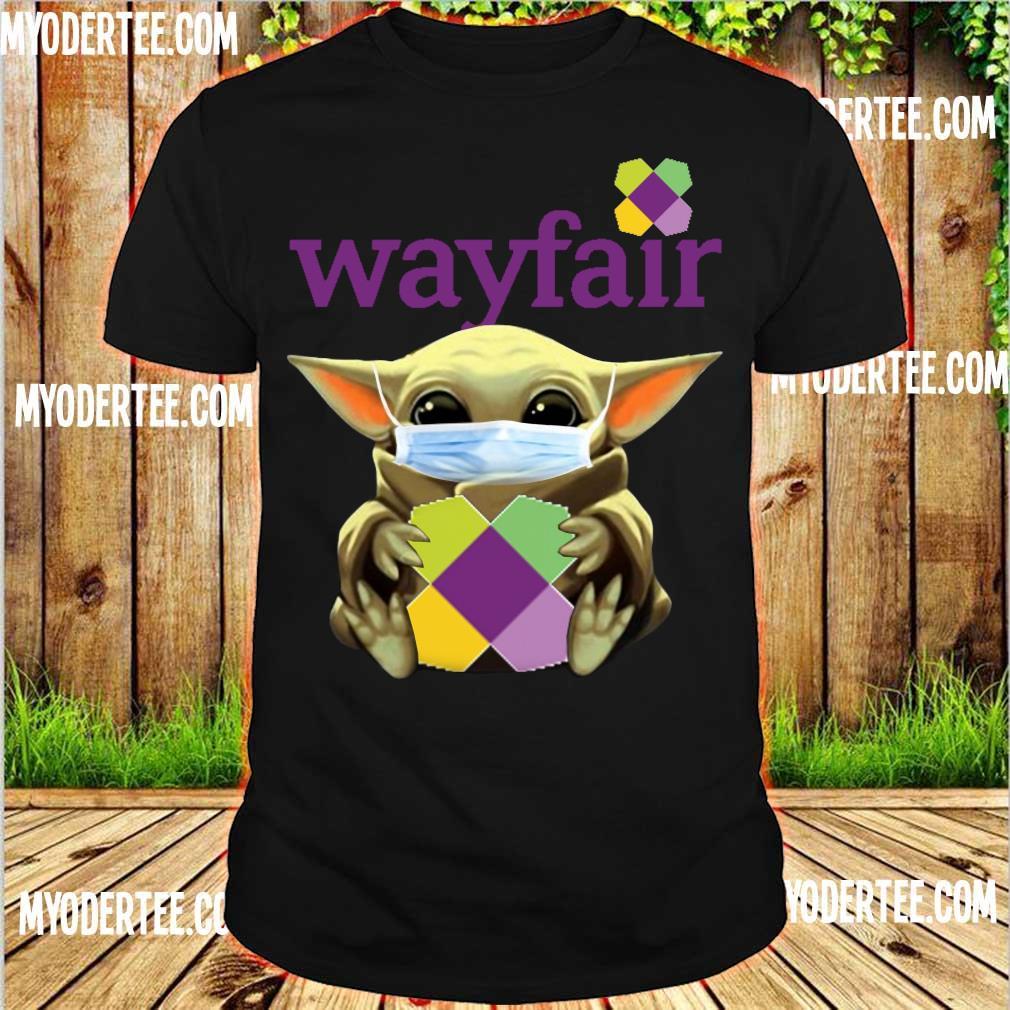 Baby Yoda Face mask hug Wayfair shirt