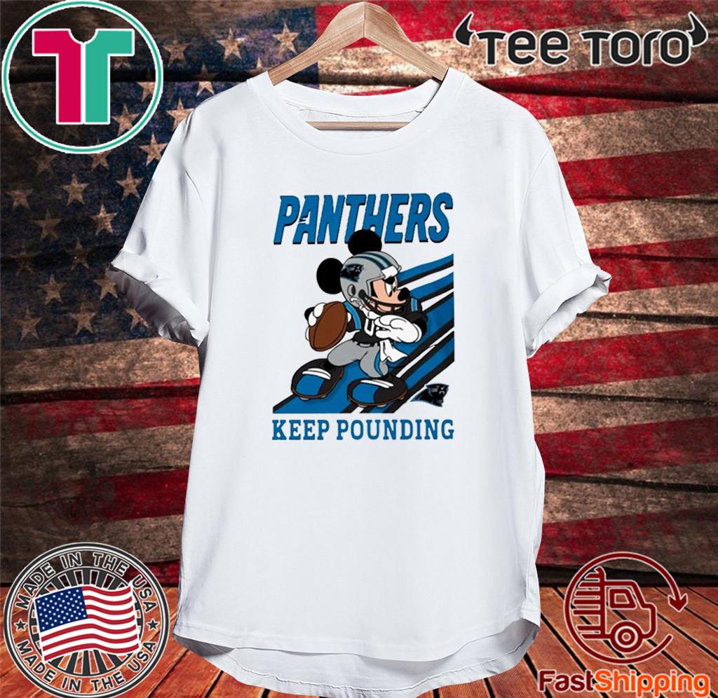 KEEP POUNDING MICKEY MOUSE NFL SHIRTS - CAROLINA PANTHERS