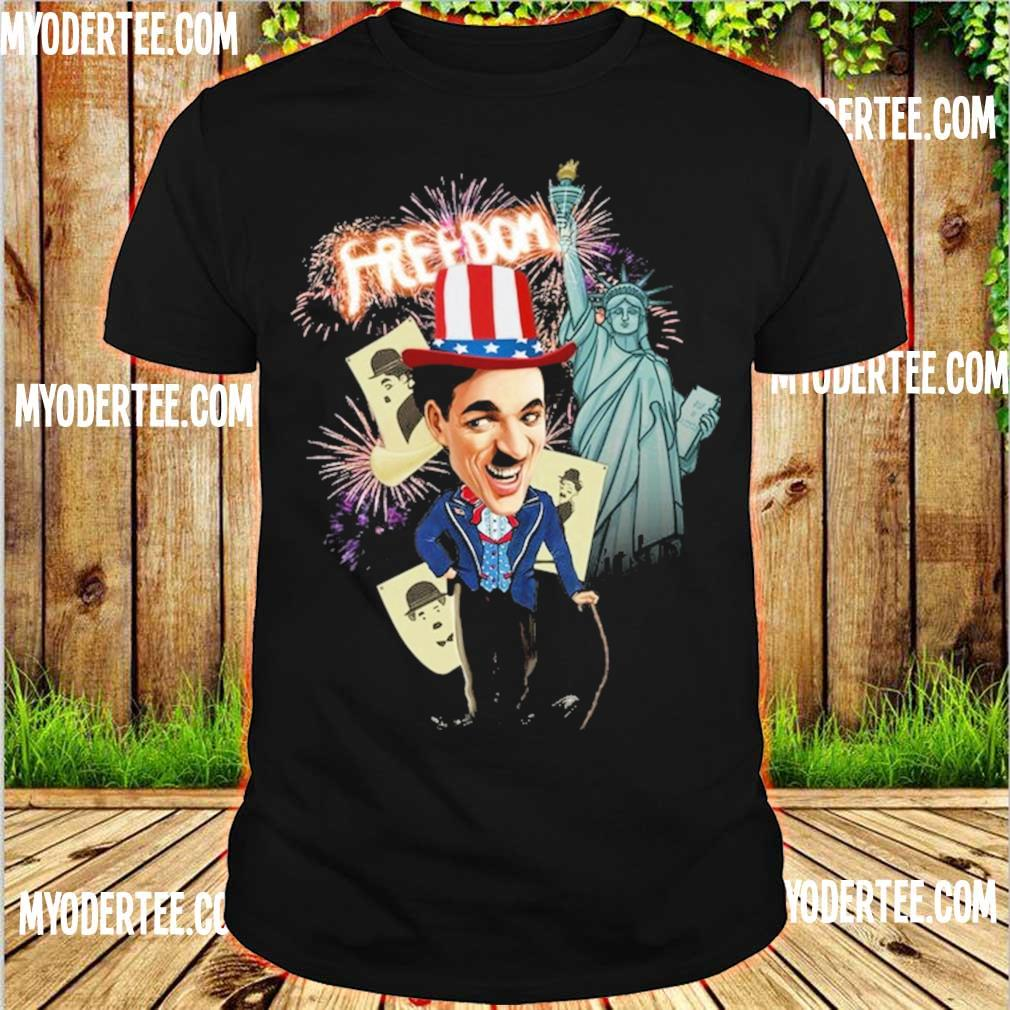 Charlie Chaplin freedom Flag day american shirt