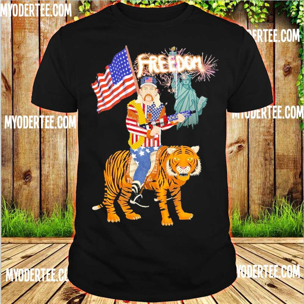 Joe Exotic tiger king freedom american Flag Day shirt