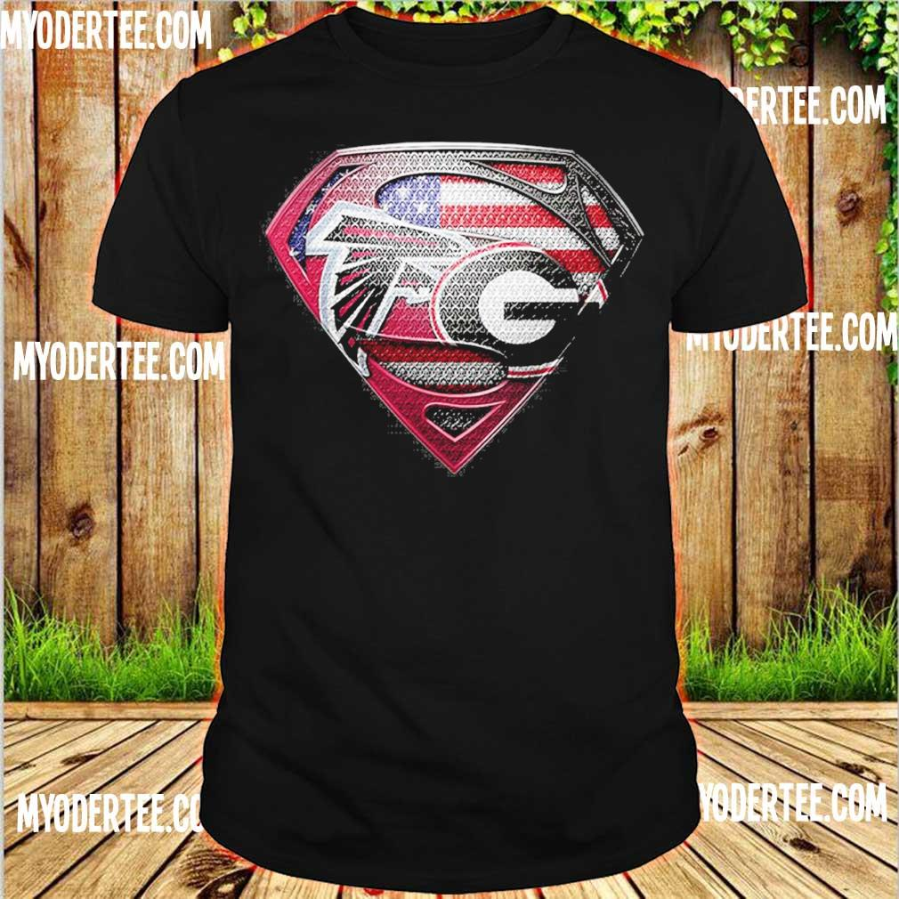 Superman Atlanta Falcons vs Georgia Bulldogs Heart shirt