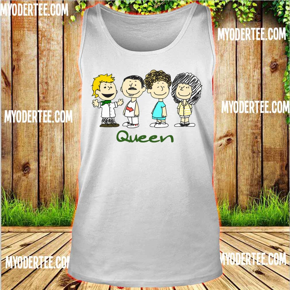 Nice The peanuts characters queen s tank top