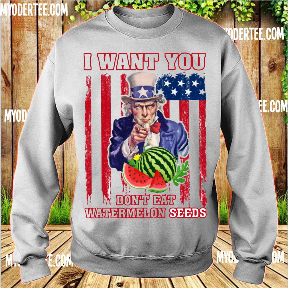 Tio Sam I want you don_t eat watermelon seeds america flag s sweater