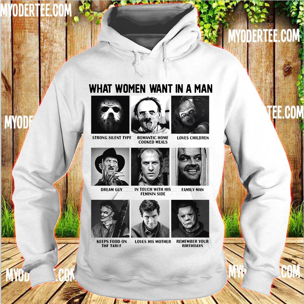 What women want in a man character s hoodie