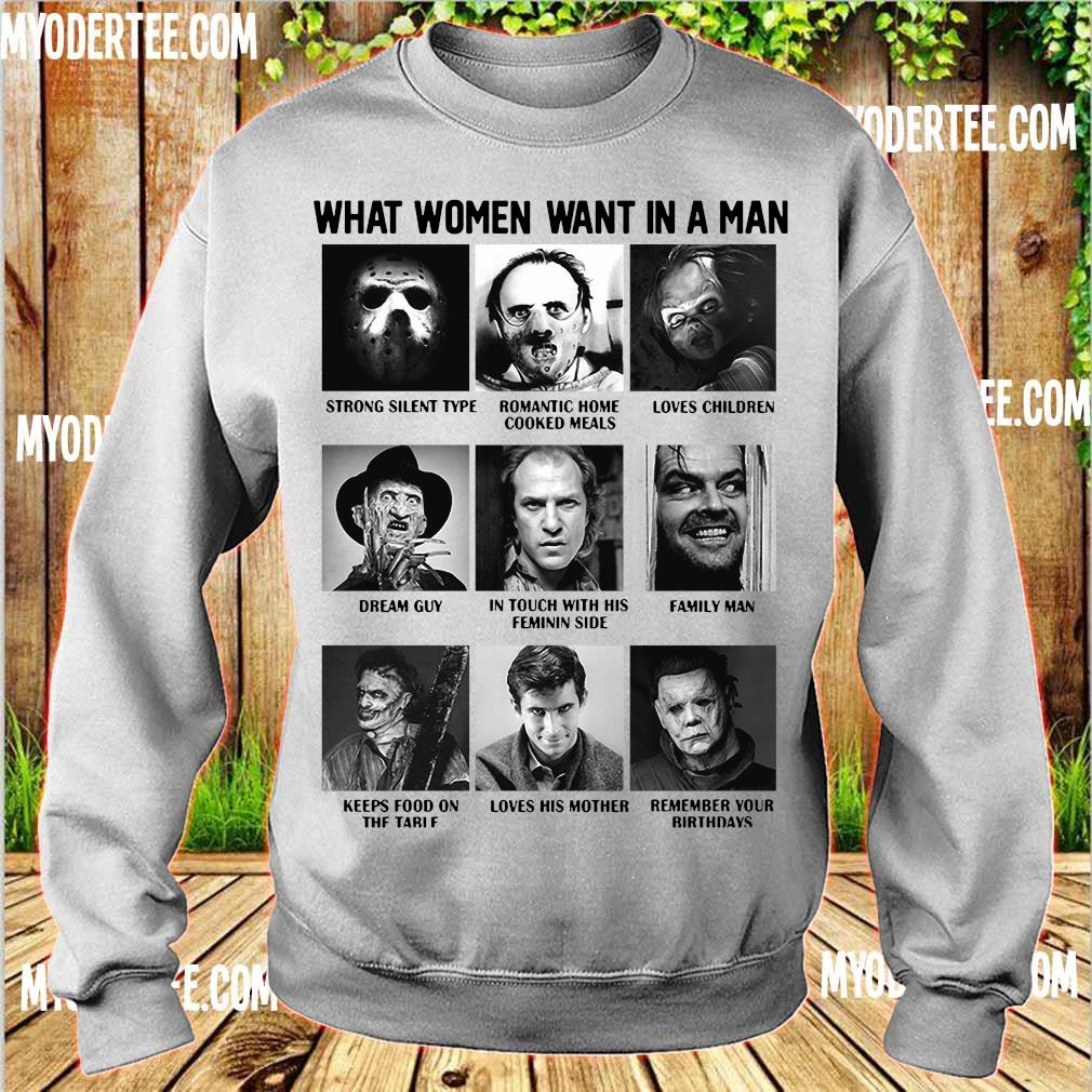 What women want in a man character s sweater