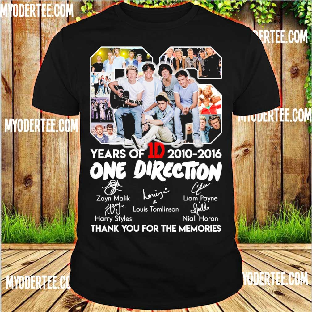 06 Years Of One Direction 1D 2010 2016 shirt