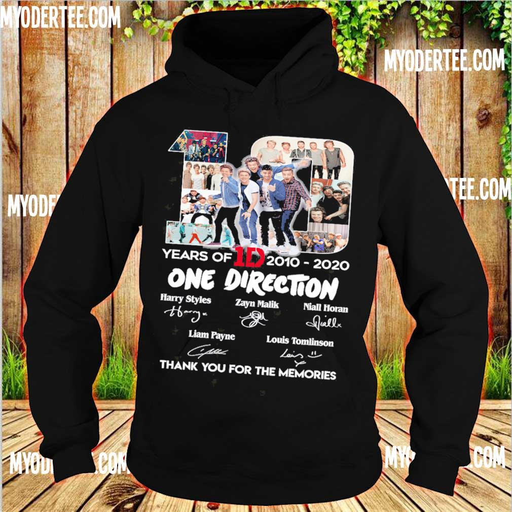 10 Years Of 1d 2010 2020 One Direction Thank You For The Memories Signatures Shirt hoodie
